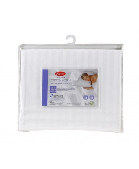 EasyRest Twin Pack Cotton Sateen Pillow Protector