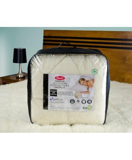 EasyRest Reversible 1000GSM Premium Australian Wool Underlay