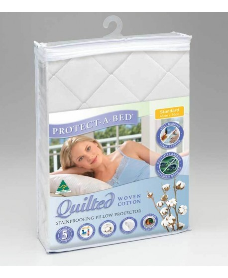 Protect-A-Bed Cotton Quilted Pillow Protector