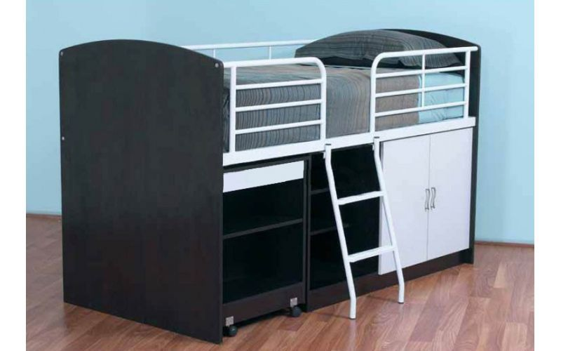 studio storage loft bed bedworks