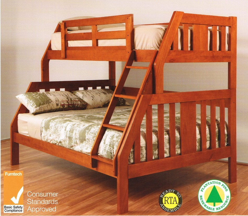 Troy Single Double Timber Bunk Bed