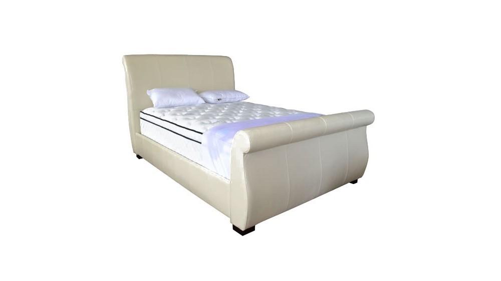 Sante Fe Upholstered Bed Frame Genuine Leather