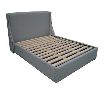 Straight Wing Upholstered Bed Frame