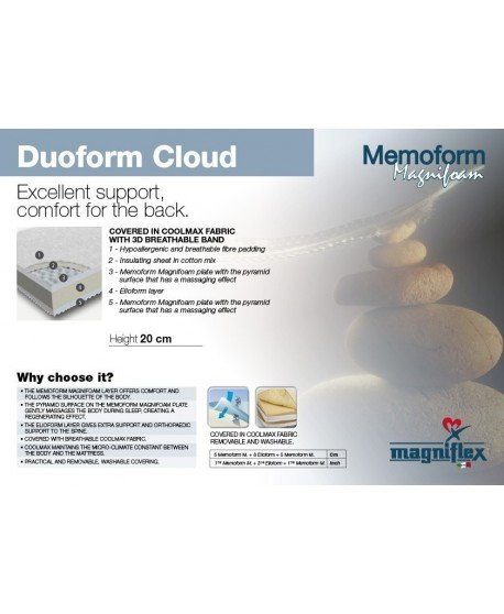 Magniflex Duoform Cloud 20cm Cooling Memory Foam Mattress