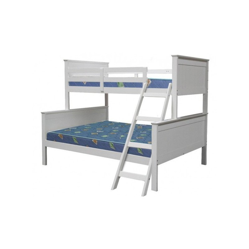 Single Bunk Bed : Pin Single Over Double Bunk Bed Frame Only on Pinterest