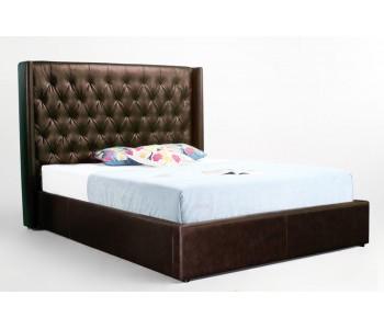 Wingback Upholstered Bed Frame