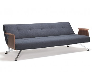 Clubber with Walnut Arms Sofa Bed