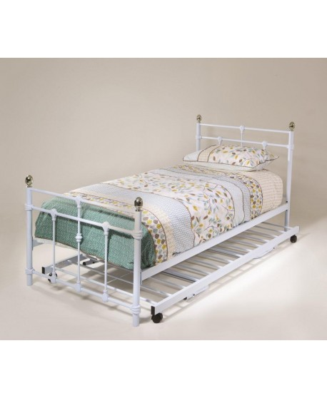 Molly Metal White Bed Frame (Trundle option available)