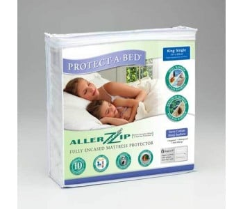 Protect-A-Bed Allerzip Smooth Fully Encased Mattress Protector