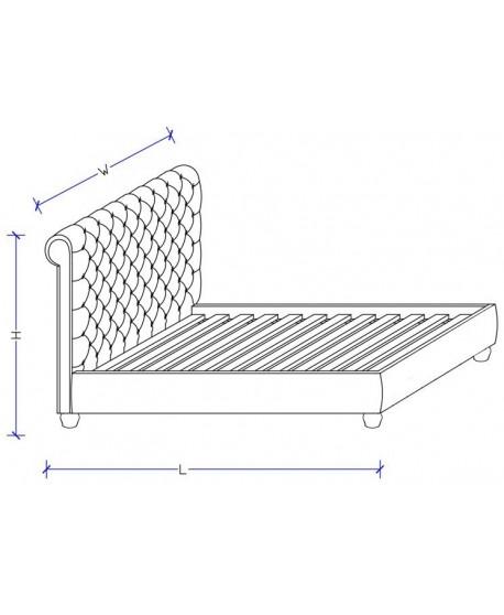 Peppa Velvet Upholstered Slat Bed Frame