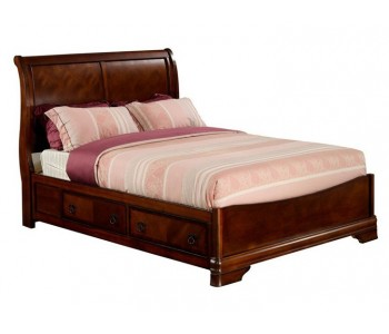 Sheridan Drawer Base Bed Frame in Brown Colour