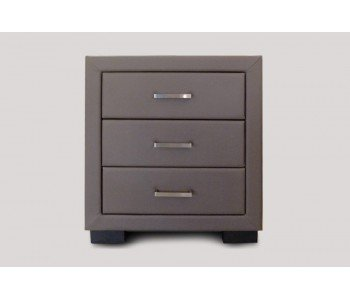 Upholstered 3 Drawer Bedside Table