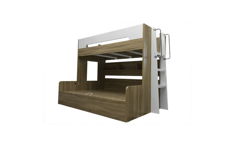 Tee Gas Lift Bunk Bed Single Top Double Bottom
