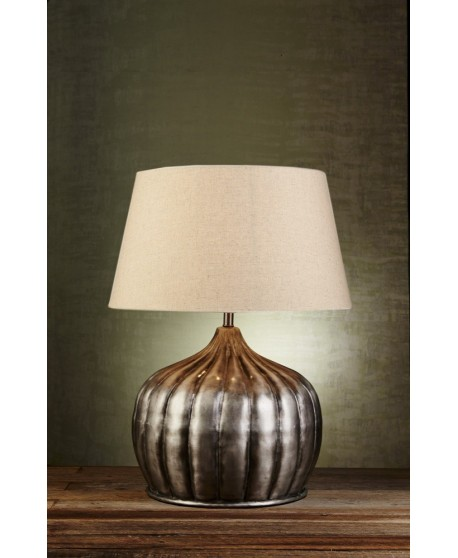 Emac & Lawton Pumpkin Table Lamp in Bronze/Silver Finish