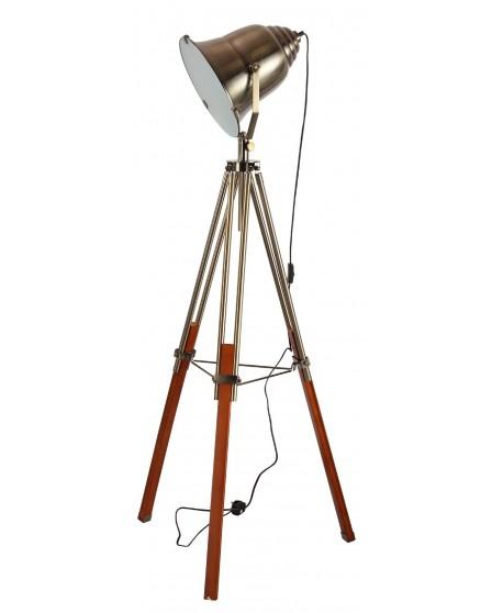 Antique Brass Spotlight Floor Lamp
