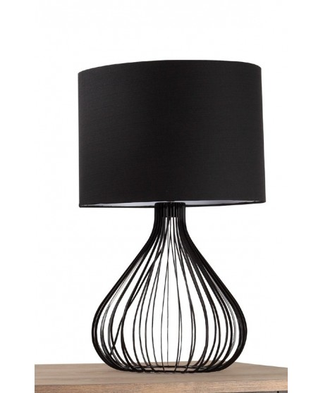 Large Wrought Iron Table Lamp In Glossy Black or White