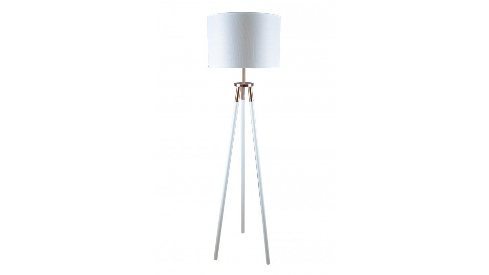Black Tripod With Copper Floor Lamp In Black Or White