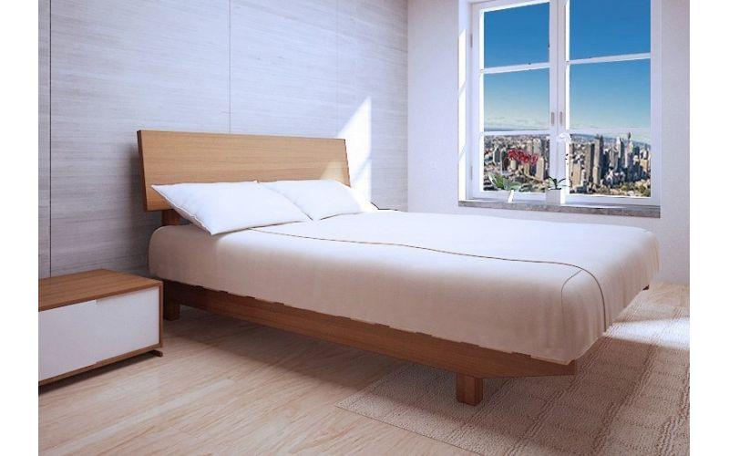 European Floating Timber Bed Frame