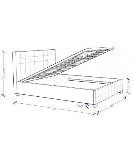 Charlotte Gas Lift Upholstered Bed Frame