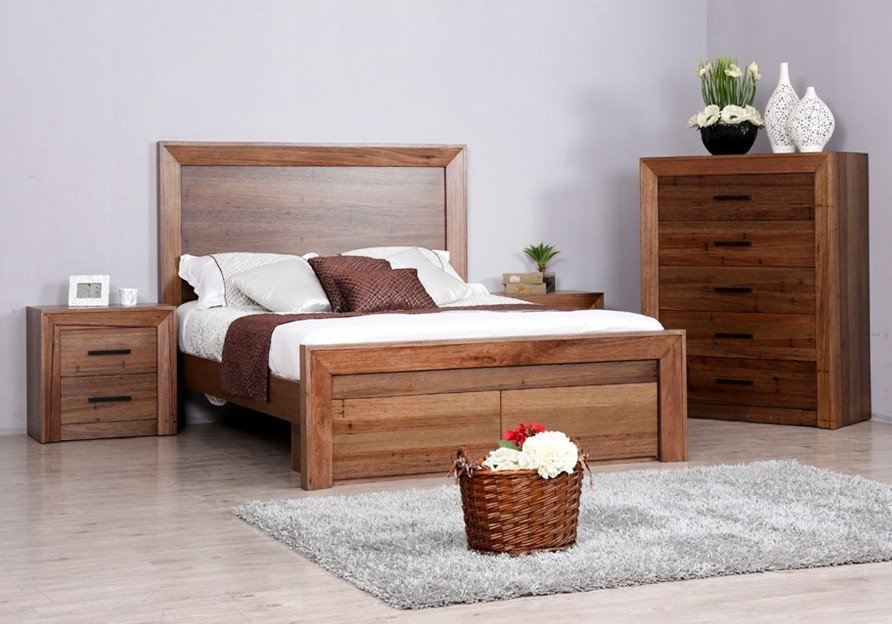 Berkshire Timber Bed With Drawers Suite Option