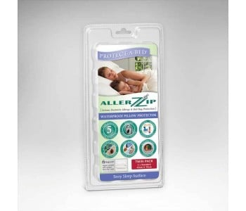 Protect-A-Bed Allerzip Terry Pillow Protector - Twin Package