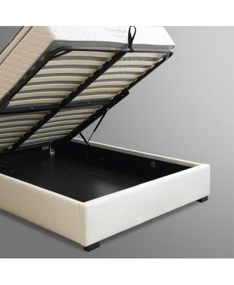 Bella Upholstered Gas Lift Bed Frame