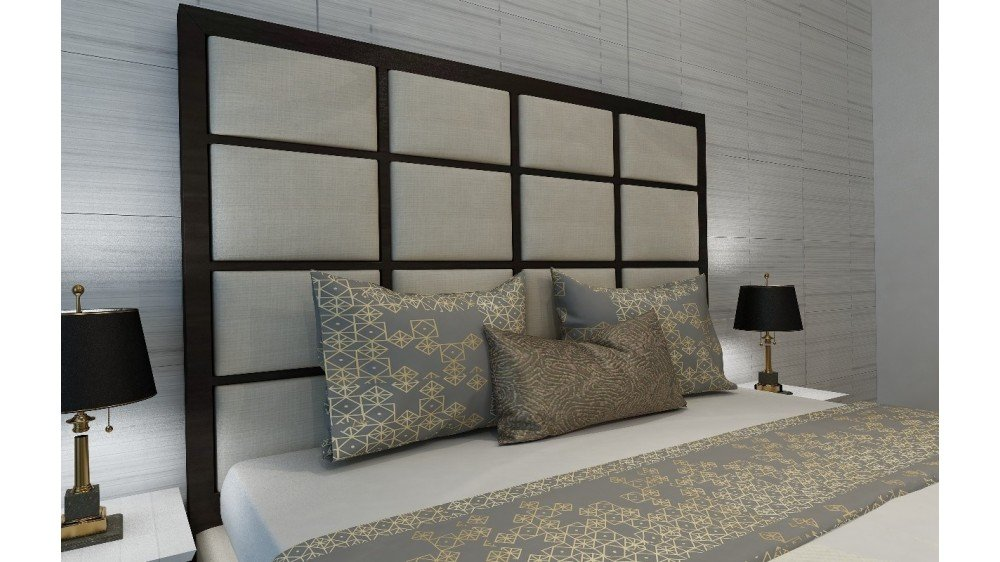 Quiz Custom Upholstered Timber Bed Head
