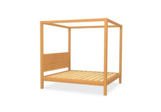 Cube Four Poster Timber Bed Frame