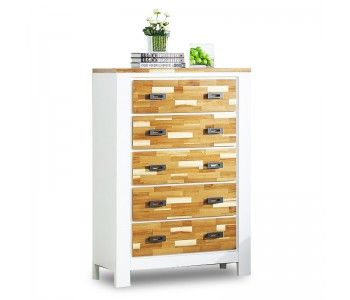 Arina Timber Tallboy - 5 Drawers