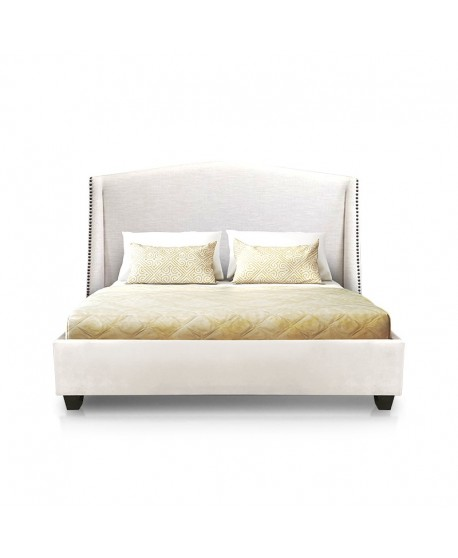 Balmoral Custom Studded Wing Bed Frame