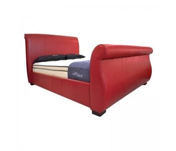 Santa Fe Upholstered Bed Frame Genuine Leather