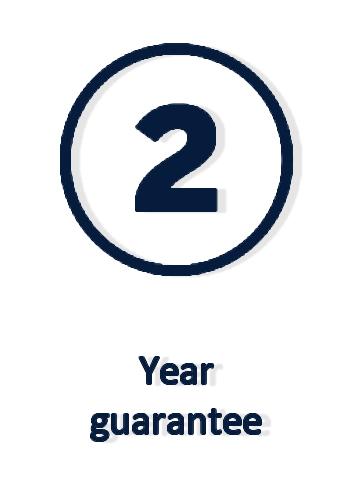 2 years guarantee