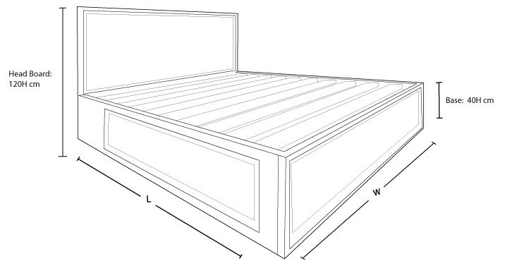 Check out out Clempton Custom Timber Storage Bed Frame Dimension Drawing to Measure The Size!