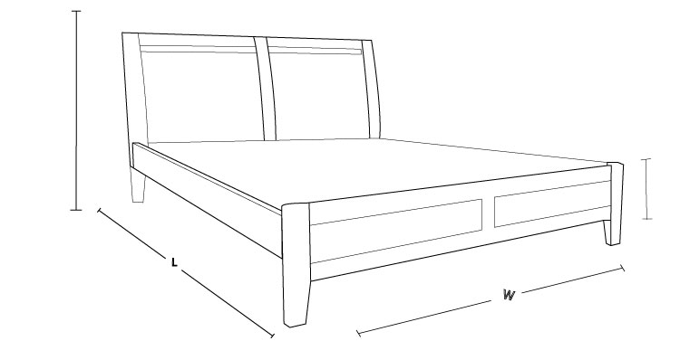 Check out the dimension drawing of Soho Timber Bed and measure the size!