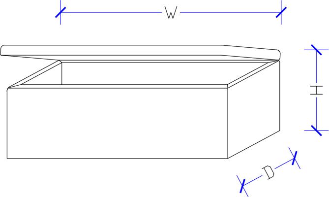 Custom Made Upholstered Storage Box
