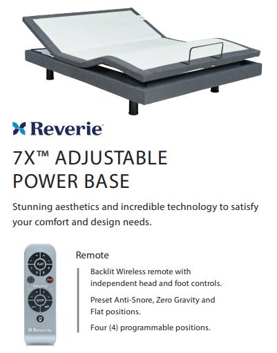 Reverie 7x Wireless Adjustable Base - Best Adjustable Base Foundation