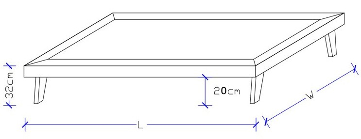 Slimline Ensemble Base Dimensions