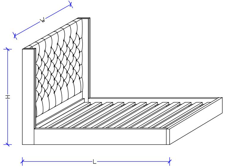 Alexandria Upholstered Bed Frame - Custom Made
