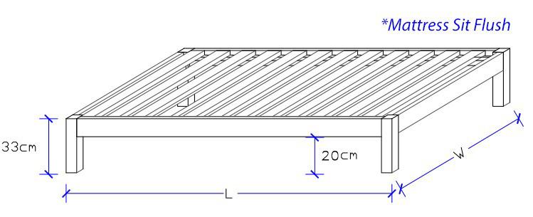 Space Saver Custom Made Timber Bed Frame