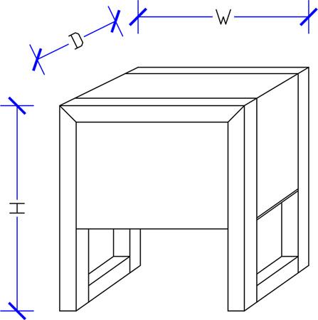 Garfield Timber Bedside Custom Made Design