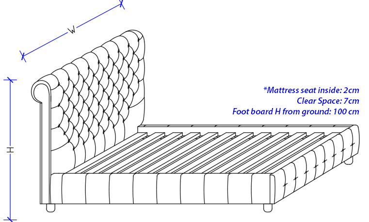 Bella Upholstered Gas Lift Bed Frame - Custom Made