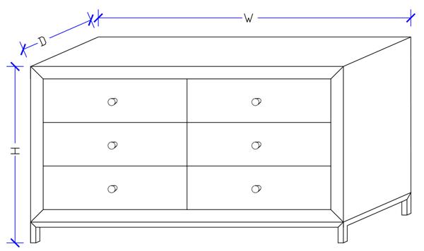 Bono Dresser Table - Custom Made Bedroom Furniture