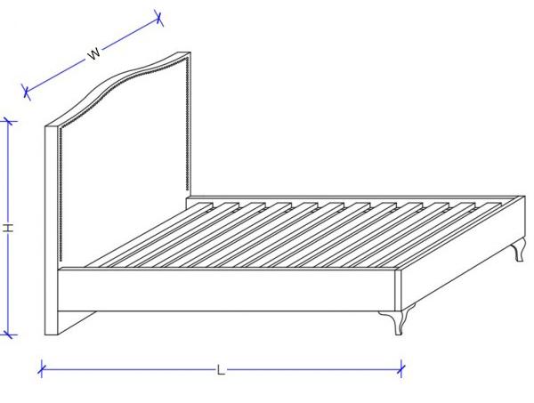 Ellen Upholstered Bed Frame - Dimensions
