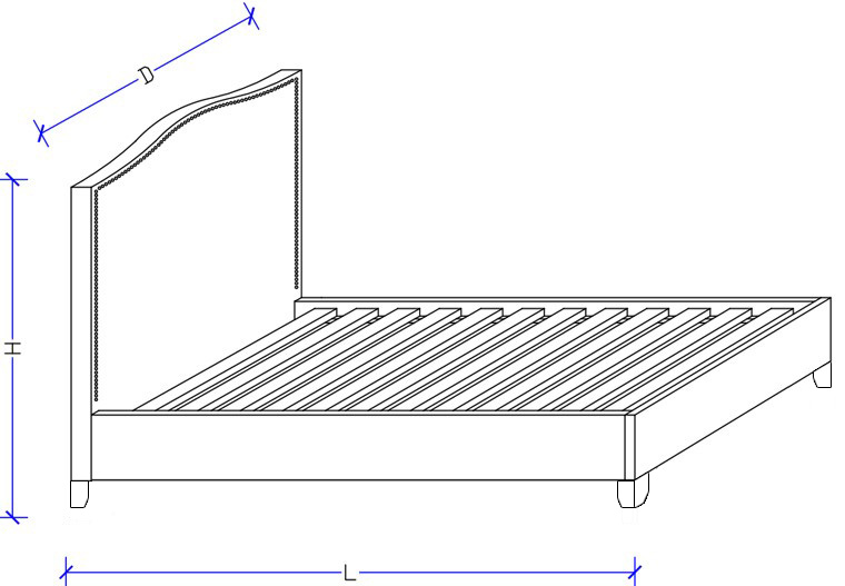 Bed Frame Size - Drawings