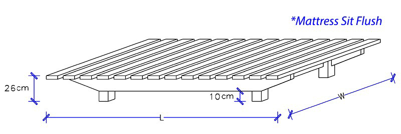 Floating Timber Base Dimensions