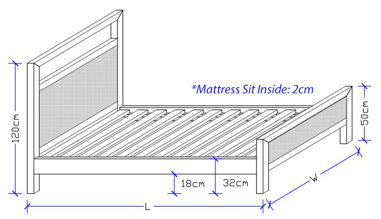 Jones Custom Bed Frame Dimensions