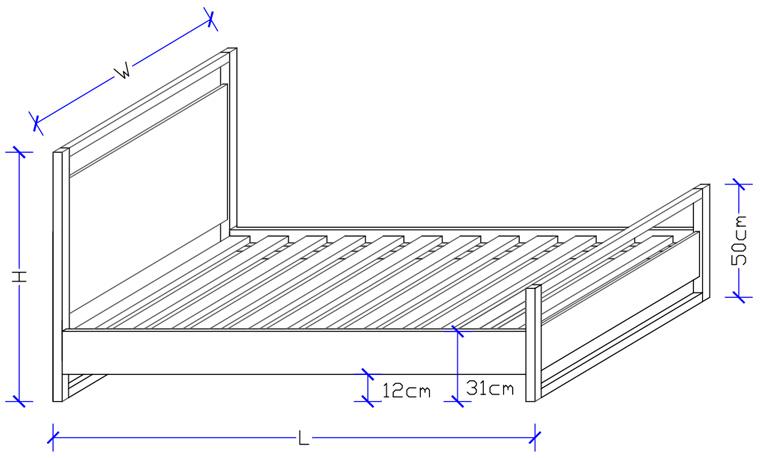Kirsten Timber Bed Frame - Timber Bedroom Suites
