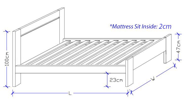 Larissa Timber Bed Frame - Custom Made Design