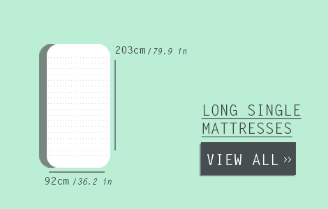 Long Single Mattress Size - Double Mattress Size