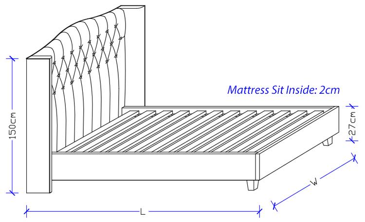 Newport Upholstered Bed Frame - Custom Made Design